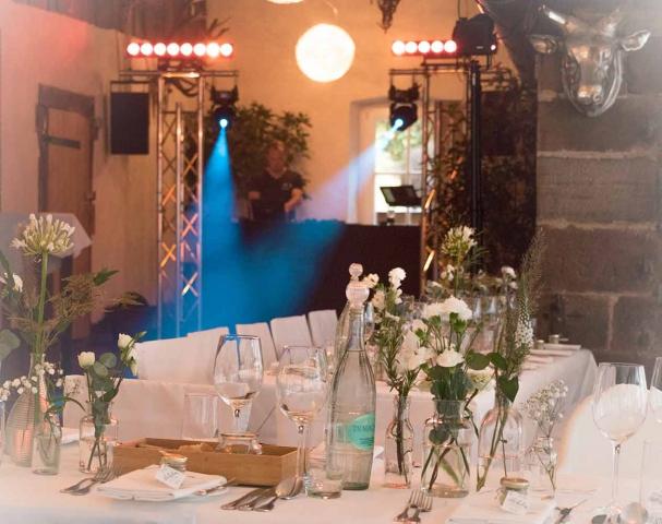 Hochzeit mit DJ in der Heidersbacher Mühle
